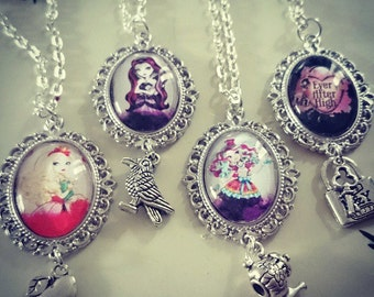Ever After High Glass Tile Charm Necklace