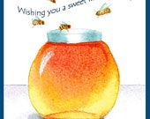Wedding Card with Honey Jar and Bees