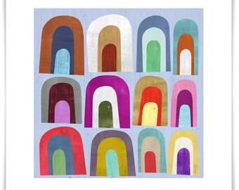 Mini Arch Abstract Art Print