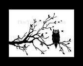 Owl Cross Stitch, Cross Stitch Pattern, Cross Stitch Owl, Owl Silhouette, Needlepoint Patterns, Owl Pattern by NewYorkNeedleworks on Etsy