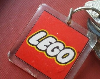 80s Authentic Vintage Never Used LEGO RED KEYCHAIN, acrylic, collectible toy, collectible stationery - Key not Included :-)
