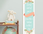 Personalized/ Custom Girls Growth Chart - Every Inch of You Is Perfect