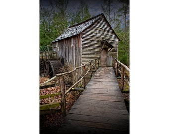 Cade's Cove's John Cable Mill in the Great Smoky Mountain National Park in Tennessee No.136 Color Fine Art Appalachia Landscape Photography