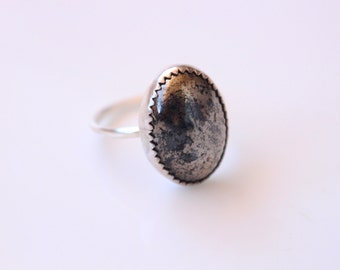 Pyrite Ring // Made to Order in Your Size Ring // Fool's Gold Ring // Pyrite Stone Ring // Iron Pyrite Ring