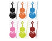 Violin Color Silhouette Digital Clip Art: JPEG PNG blogs banners ads advertising newsletters scrapbooking personal professional clipart JPG