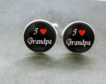 Grandfather Cufflinks Christmas Gift for Grandpa I love Grandpa Gift for Grandparent Grandfather of the Bride Grandpa Christmas Gift