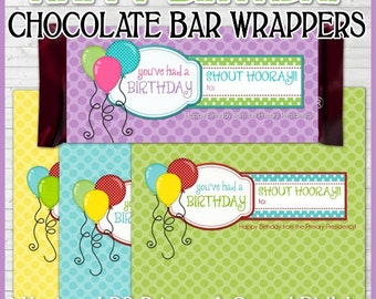 Happy BIRTHDAY Chocolate Bar Wrappers, Primary LDS - Printable Instant Download