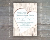 Wedding, Bridal Shower, Baby Shower, Engagemant Party Invitation - Forever Love, Digital Printable File OR Professionally Printed Cards