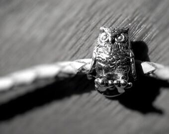 Sweetest Owl Bead in sterling