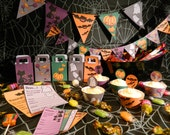 Cute Halloween Party Printables Set - Bunting, Banners, Goodie Bags, Invites, Cupcake Toppers & Wrappers :)