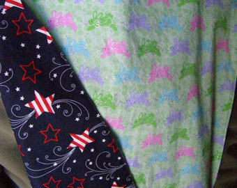 Easter/Patriotic Adult Shirt Protector Special Needs Bib extra long reversible