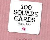 100 Square Business Cards, Custom Business Cards