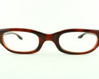 Vintage Deadstock 60's Red Art Craft Cat Eye Eyeglass Frames USA Readers - FREE Domestic Shipping
