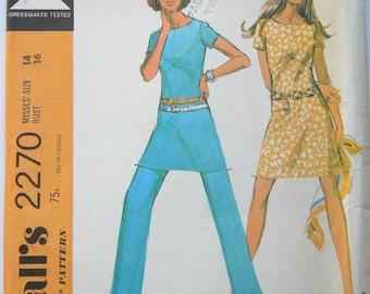 Mccalls 2270 70s Vintage Dress & Pants