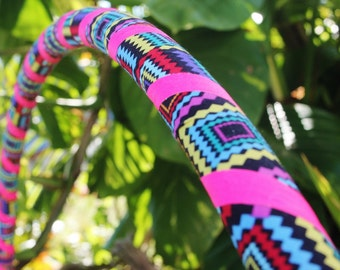Diamond Vibes Fabric Hula Hoop with Custom Tubing, Diameter and Grip Options! Great for Beginners!