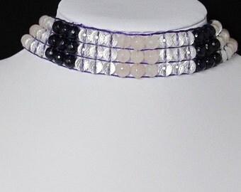 Necklace 16 inch IN rock crystal Quartz Rose Quartz 925 Silver