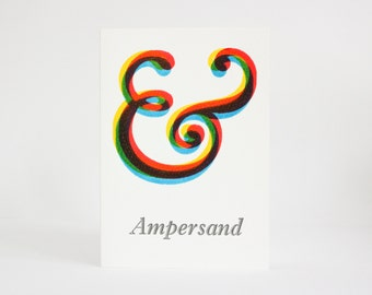 Ampersand Letterpress card