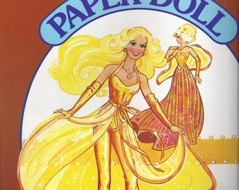Golden Dream Vintage Barbie Paper Doll Book, 1982
