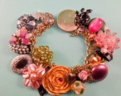 The Fancy Flapper Repurposed Vintage Jewelry Charm Bracelet One of a Kind