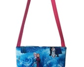 Frozen Characters Kids Crossbody Bag // Disney Crossbody Purse // Elsa Anna Kristoff Olaf Sven