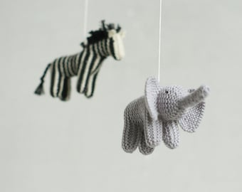 baby mobile - jungle animals mobile - safari mobile - baby shower gift - made to order