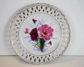 Vintage China Plate - Hand Painted Flower Plate