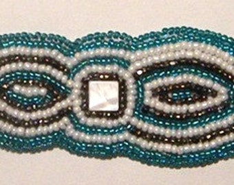 Beaded embroidery bracelet