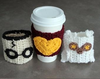 Harry Potter Inspired Coffee Sleeve Cozie Set of 3 - Halloween at Julian Bean