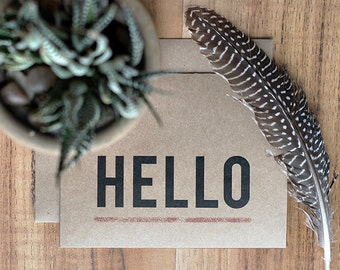 Hello Card - Simple Greeting Card - Thinking of You