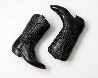 1970s Acme black cowboy boots, men's size 10
