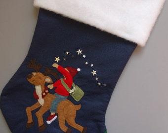 """Personalized Christmas Stockings-- Large Felt Stocking--""""Christmas Magic"""""""
