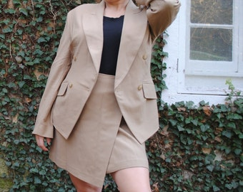 Vintage Donna Karan DKNY Sample Sale Suit Wrap Skirt and Blazer