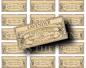 Digital Download Collage Sheet 3x1.5 Blank Vintage 1800's Apothecary Style Spice Herb Potion Labels 6