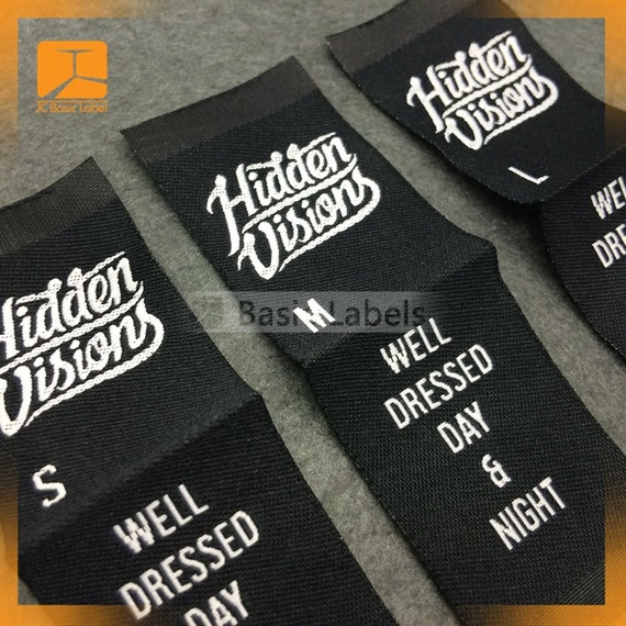 300 custom woven labels clothing labels custom woven for Custom t shirts with custom tags