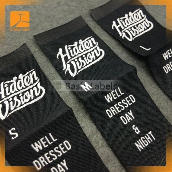 300 Custom Woven Labels Clothing Labels Custom Woven