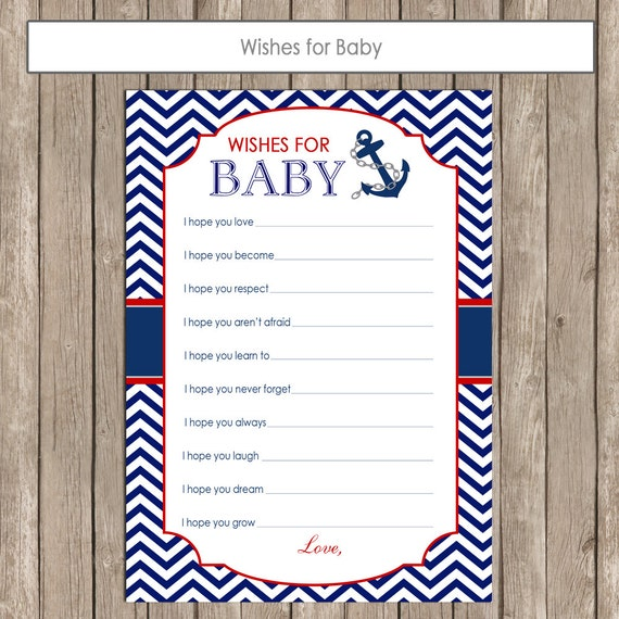 nautical baby shower wishes for baby red and navy wishes for baby
