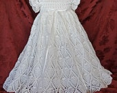 White Christening / Blessing Gown with Slip -  Baby Dress  -  MADE TO ORDER