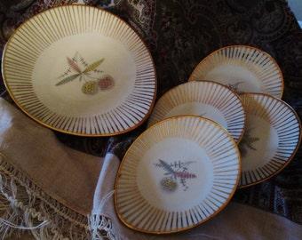 Vintage Bavaria Elfenbein Porzellan Petit Four Tray and Dishes.  Mid Century Porcelain.  G-185
