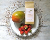 Organic Strawberry Mango Rooibos Herbal Tea • Loose Leaf Blend • Real Fruit • Caffeine Free