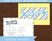 Precious Cargo Invitation Baby Shower DIY Printable Kit - INSTANT DOWNLOAD