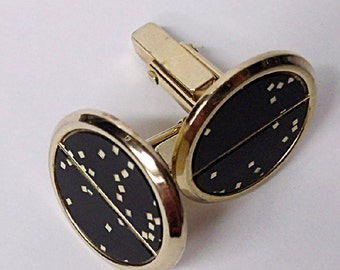 Cuff Links Black and Gold
