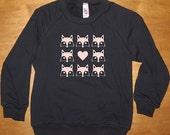 Love Foxes Fox Heart Shirt - Kids / Girls or Boys Long Sleeved Navy Blue - Fleece Shirt - 2T, 4T, 6, 8, 10, 12  Gift Friendly