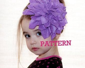 Flower Girl Headband, Felt Flower PATTERN,  Tutorial Instant Download, DIY, Communion, Easter, Spring, Wedding, Bride, Photo Prop.  EASY!