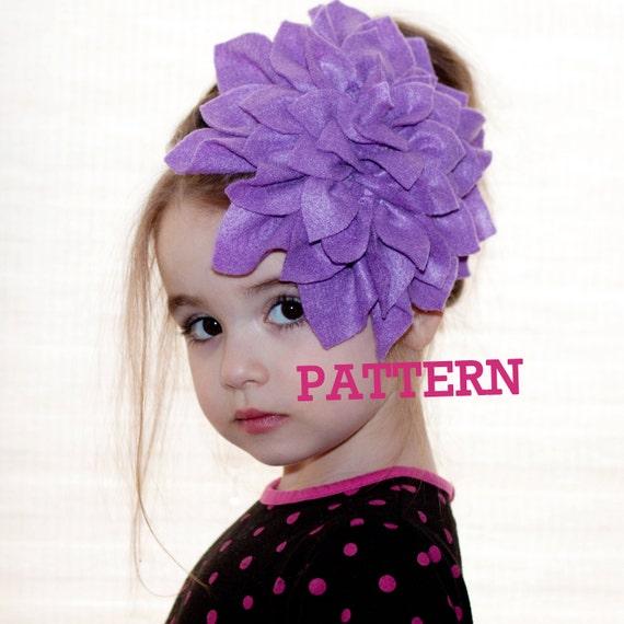 Flower Headband Tutorial: Flower Girl Headband Felt Flower PATTERN Tutorial Instant