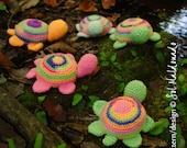 Amigurumi Turtle crochet pattern PDF - Toy, mobile, pincushion -  Instant DOWNLOAD