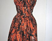 Size Large Ready to ship Zombie pin up party dress