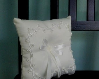 Ring Bearer Pillow white DIY Wedding accessories bridal craft accessory bride supplies, decorate make your own, crafting, bridal shower gift