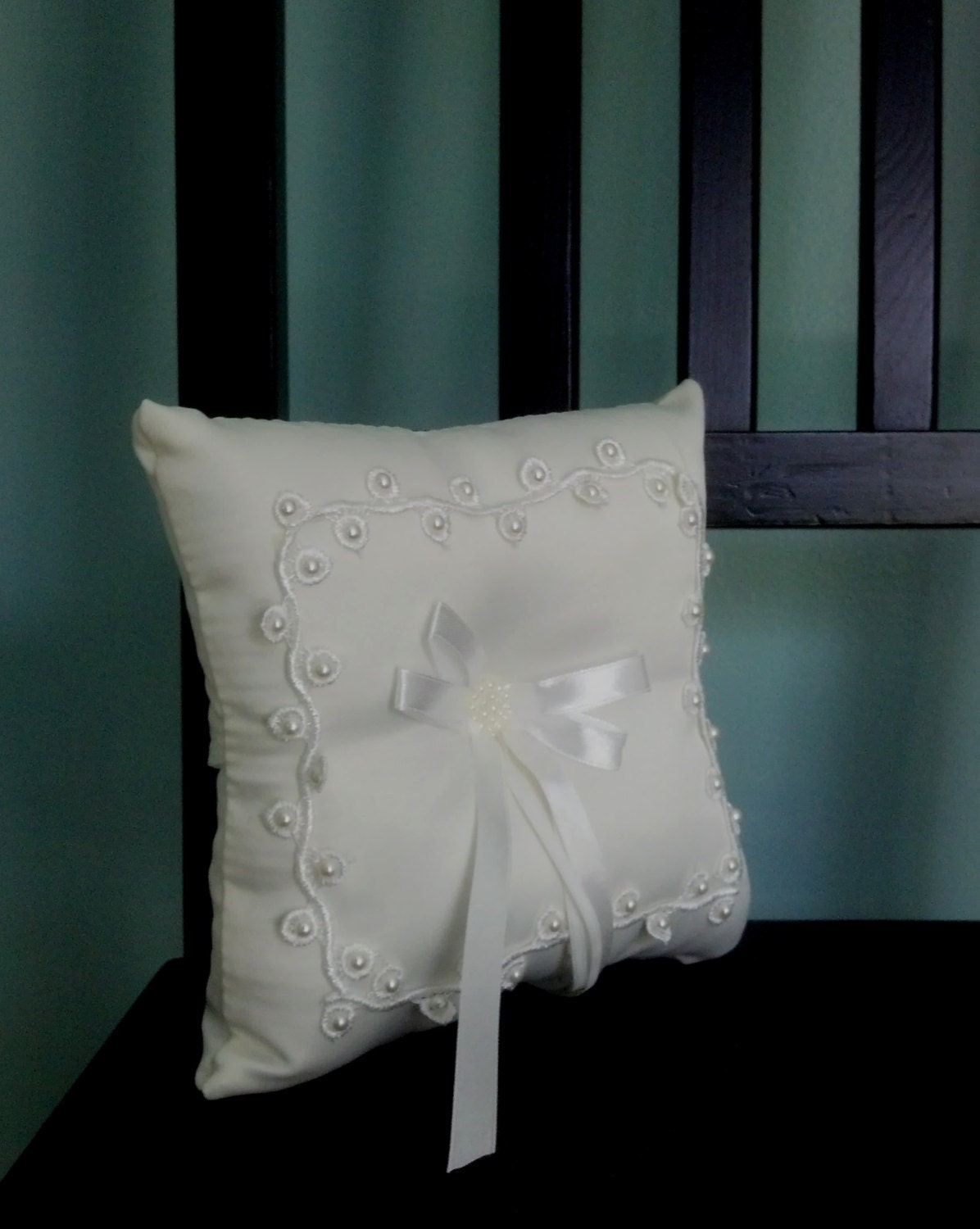 ring bearer pillow white diy wedding accessories bridal craft