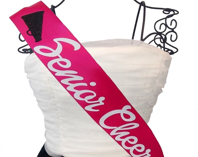 Cheerleading Sash Senior Cheer Any Color