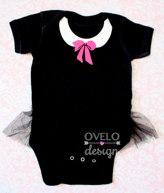 Peter Pan Collar and Bow Ballerina Bodysuit with Tutu Pick your Colors